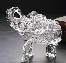 glass elephant statue jar decorative glassware container