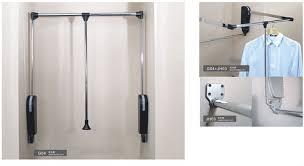 pull down clothes rail buy clothes rail storage wardrobe lift