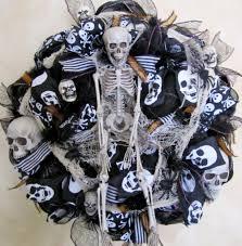 black mesh halloween wreath spooky wreath skeleton wreath deco me