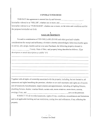 impressive blank contract template sample for deed with sale of