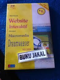 membuat web interaktif jual buku membuat website interaktif macromedia dreamweaver ori pn