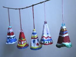 egg carton christmas bells mermaids makings