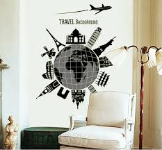 modern wall decals for living room new luminous world map travel modern wall decal stickers living room
