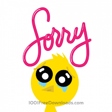 free vectors chicken says sorry animals
