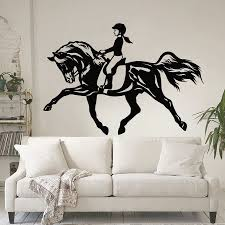 Wall Art Stickers by Online Get Cheap Wall Art Decor Stickers Horse Riding Aliexpress