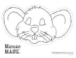 photos mouse mask template printable mouse mask template