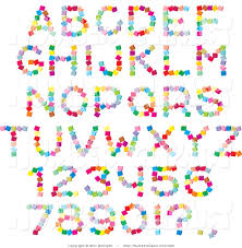 clip art of a font set of colorful alphabet letters numbers and