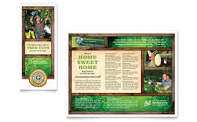 Publisher Brochure Templates by Tree Service Tri Fold Brochure Template Word Publisher