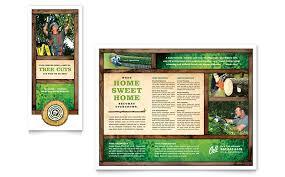 tree service tri fold brochure template word u0026 publisher
