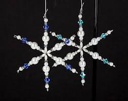 beaded snowflake etsy