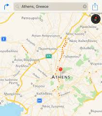 Athens Greece Map by Apple Maps Now Provides Traffic Data In Greece Mac Rumors