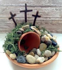 Easter Cross Table Decorations by Easter Empty Tomb Centerpiece Easy And Frugal Diy Craft For The