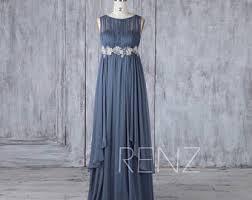 steel blue bridesmaid dress etsy