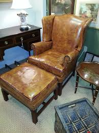 Leather Wingback Chair With Ottoman Design Ideas Leather Wingback Chair And Ottoman Design Desk Ideas Www
