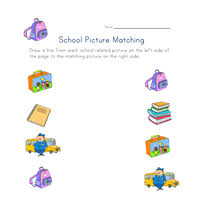 back to matching words worksheet all kids network