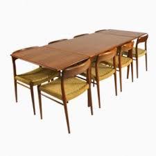 Teak Dining Room Set Extendable Teak Dining Table From J L Møllers 1960s For Sale At
