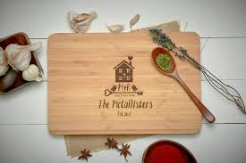 personalized cutting board new home gift cutting board