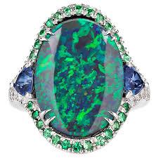 black opal rings images 3 60 carat lightning ridge black opal ring at 1stdibs jpeg