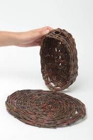 madeheart u003e wicker bread basket and stand paper tubes kitchen