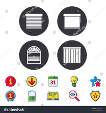 louvers icons plisse rolls vertical horizontal stock vector