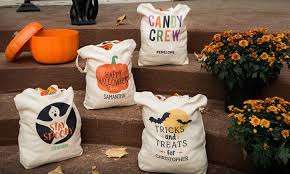 personalized trick or treat bags personalized trick or treat bag qualtry groupon