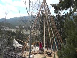 tricks for pitching a large tipi youtube