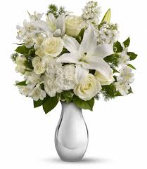 white bouquet teleflora s shimmering white bouquet in minot nd flower central