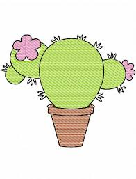 cactus 1 sketch embroidery design cactus embroidery design