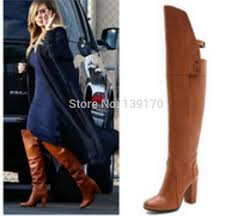 womens boots knee high leather wholesale lace up knee high flat boots 2015 arrival