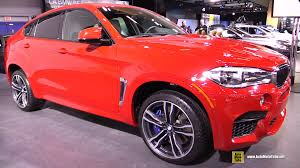 red bmw 2016 2015 bmw x6 m exterior and interior walkaround 2015 montreal