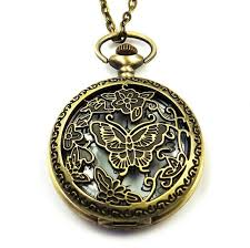 pocket watch chain necklace images Buy top new pocket watch rose hollowed butterfly jpg