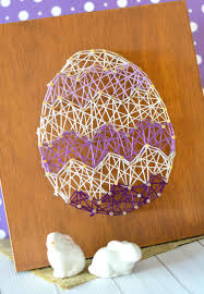 easter egg string art home decor craft