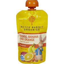 rabbit organics rabbit organics fruits mango banana orange 4 oz 10 pack