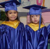pre k cap and gown kindergarten caps gowns in white and blue come with tassel