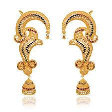 gold ear cuffs earrings blossom ear cuff gold earrings with jimmiki grt jewellers