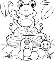 spring coloring sheets coloring pages frog butterfly and flower with ladybug spring