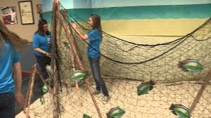 net decor gangway to galilee concordia s 2014 vbs decorating fish nets