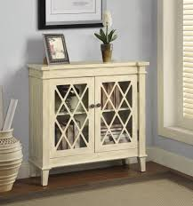 Accent Cabinets by Antique White Finish Accent Cabinet Caravana Furniture