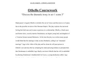 themes in othello act 1 scene 3 discuss the dramatic irony of act 1 scene 3 of othello gcse