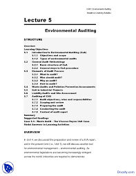 environmental auditing environment management study notes