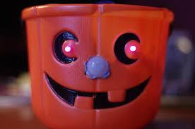 light up halloween buckets pumpkin pi raspberry pi