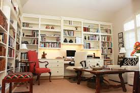 White Office Decorating Ideas Elegant Home Office Decoration Ideas With Large Open Plan Book