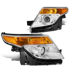 Ford Explorer Headlights - xenon 2011 2015 ford explorer replace projector headlights