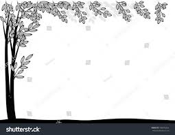 vector drawing tree border stock vector 703375255