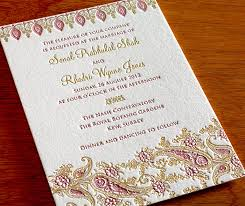 indian wedding invitations chicago favorite wedding invitations staff picks letterpress wedding