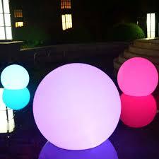 outdoor garden lights set of 3 waterproof floating spheres
