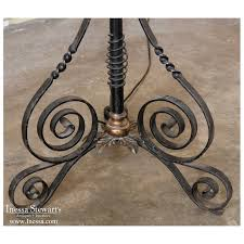 antique country french wrought iron oil lantern floor lamp