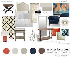 Bedroom Design Boards Orange U0026 Navy Master Bedroom Curio Design Studio