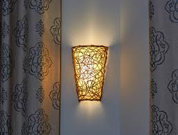 Battery Wall Sconce Lighting Battery Powered Wicker Wall Sconce With White Light Or
