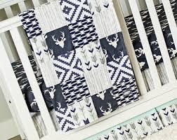 Navy Blue And White Crib Bedding Set Crib Bedding Set Etsy